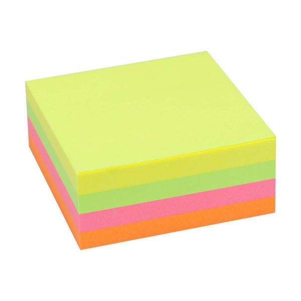 Haftnotizwürfel 75x75 neon | 320 Blatt