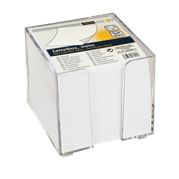 Zettelbox weiß 9x9 cm | ca. 800 Blatt