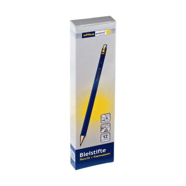 Bleistifte HB Radiertip 12 Stück