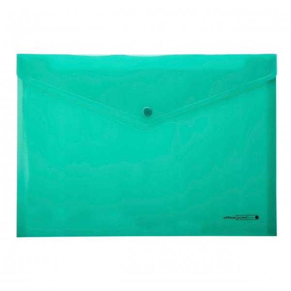 Dokumententasche A4 grün Druckknopf