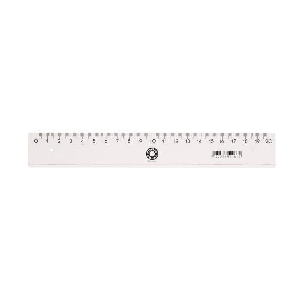 Lineal 20 cm transparent