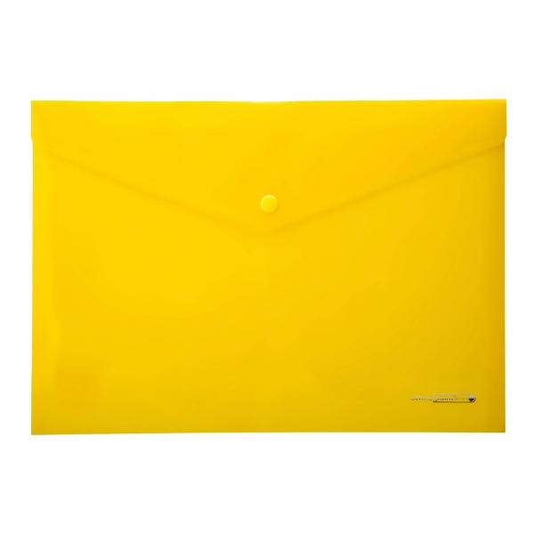 Dokumententasche A4 gelb Druckknopf