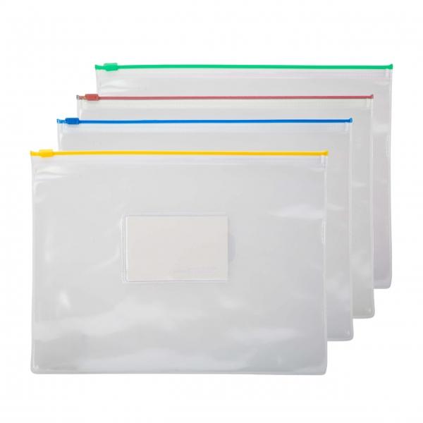 Reißverschlusstasche A4 12 Stück farbig