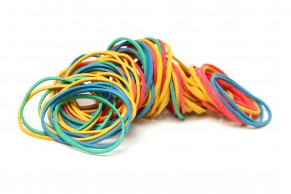 Gummibänder 45 mm 50g farbig