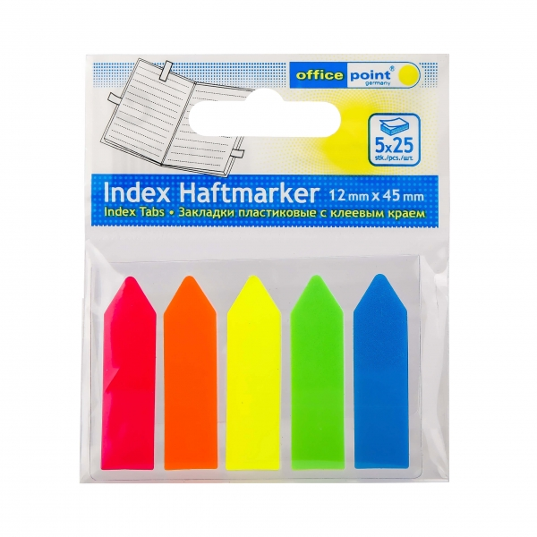 Haftmarker Pfeile 12x45 neon