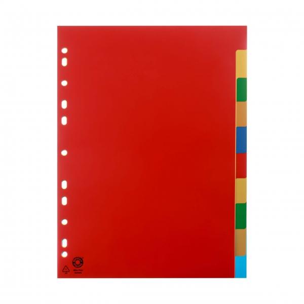 Register A4 10-teilig vollfarbig